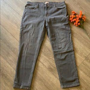 Eileen Fisher jeans gray pants size 12 denim